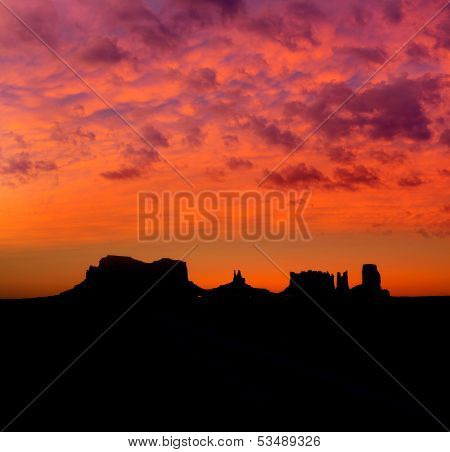Sunrise on US 163 Scenic road to Monument Valley Park Utah poster