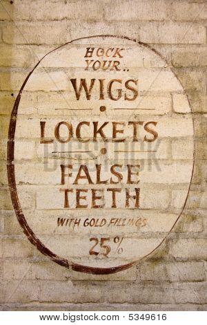 Wigs, Lockets and False Teeth