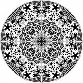 Vector ornamental element made of triangles and circles poster