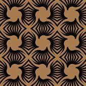 geometric art deco vintage seamless vector pattern poster