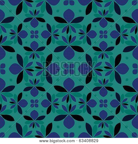 vector seamless floral pattern, floral ornament