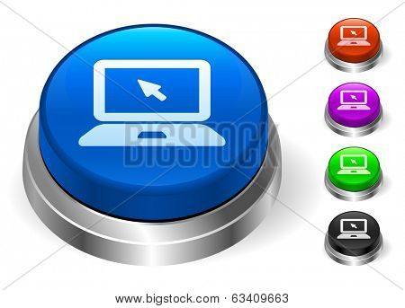 Laptop Icons on Round Button Collection