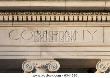 Business Company Etched in Sandstone