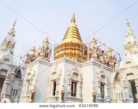 Pagoda In Wat Sri Don Moon , Chiangmai Thailand