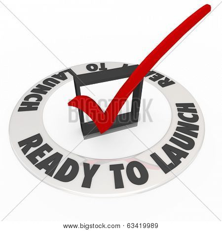 Ready to Launch Words Checklist Mark Box Start Business Company