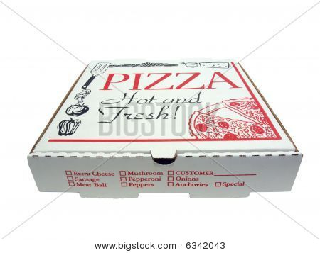 Pizza Box Isolated
