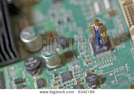 Man On Circuit Board