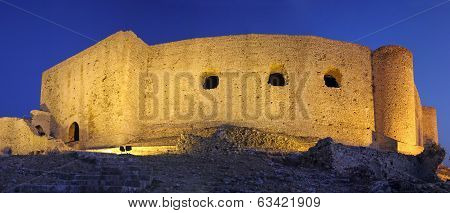 Chlemoutsi Castle At Night, Peloponnesus, Greece