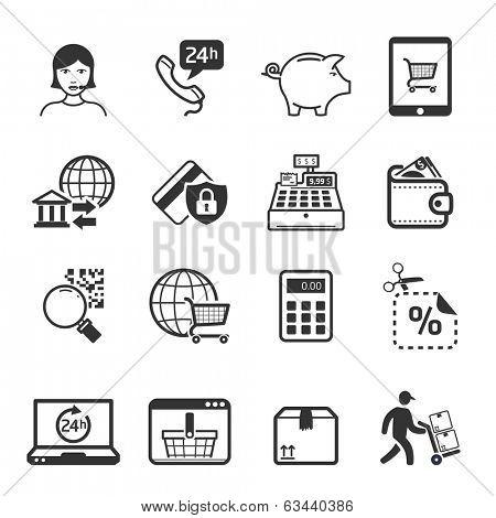 Shopping icons set 04 // BW