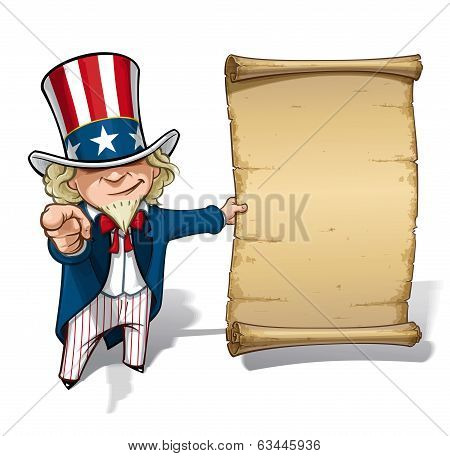 Uncle Sam I Want You Declaration