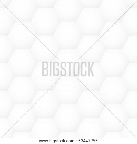 Vector Seamless Volume Honeycomb Abstract Pattern - Square Graphic Polygonal Design