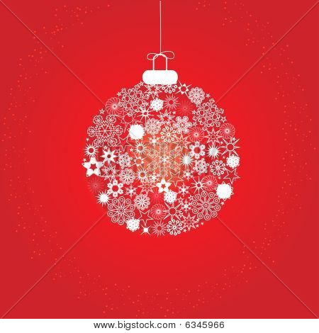 Christmas decoration snowflakes red