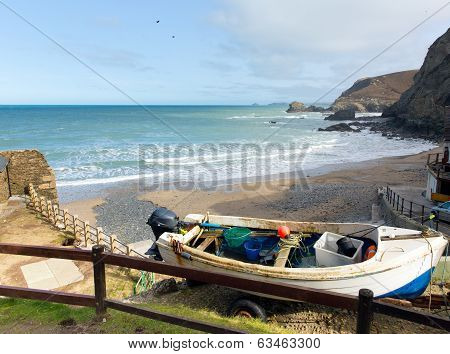 View from St Agnes north Cornwall England United Kingdom between Newquay and St Ives