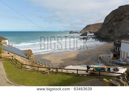 View from St Agnes north coast of Cornwall England United Kingdom between Newquay and St Ives