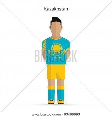 Kazakhstan football player. Soccer uniform.