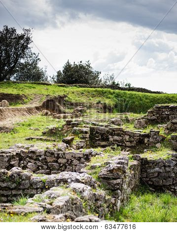 Etruscan Archaeological Site In Volterra