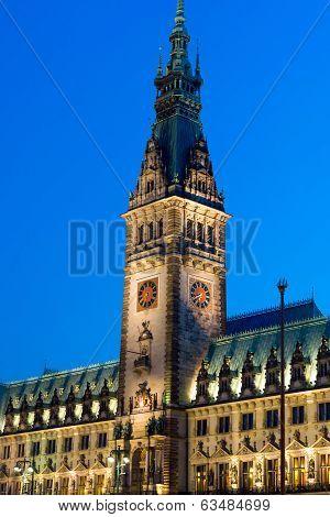 Detail of Hamburgs townhall