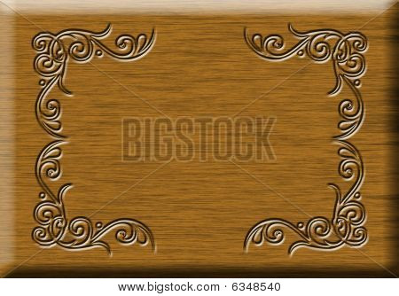 Wood Decorated Sign
