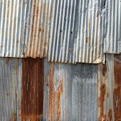 Old Texture and rusty zinc fence background poster