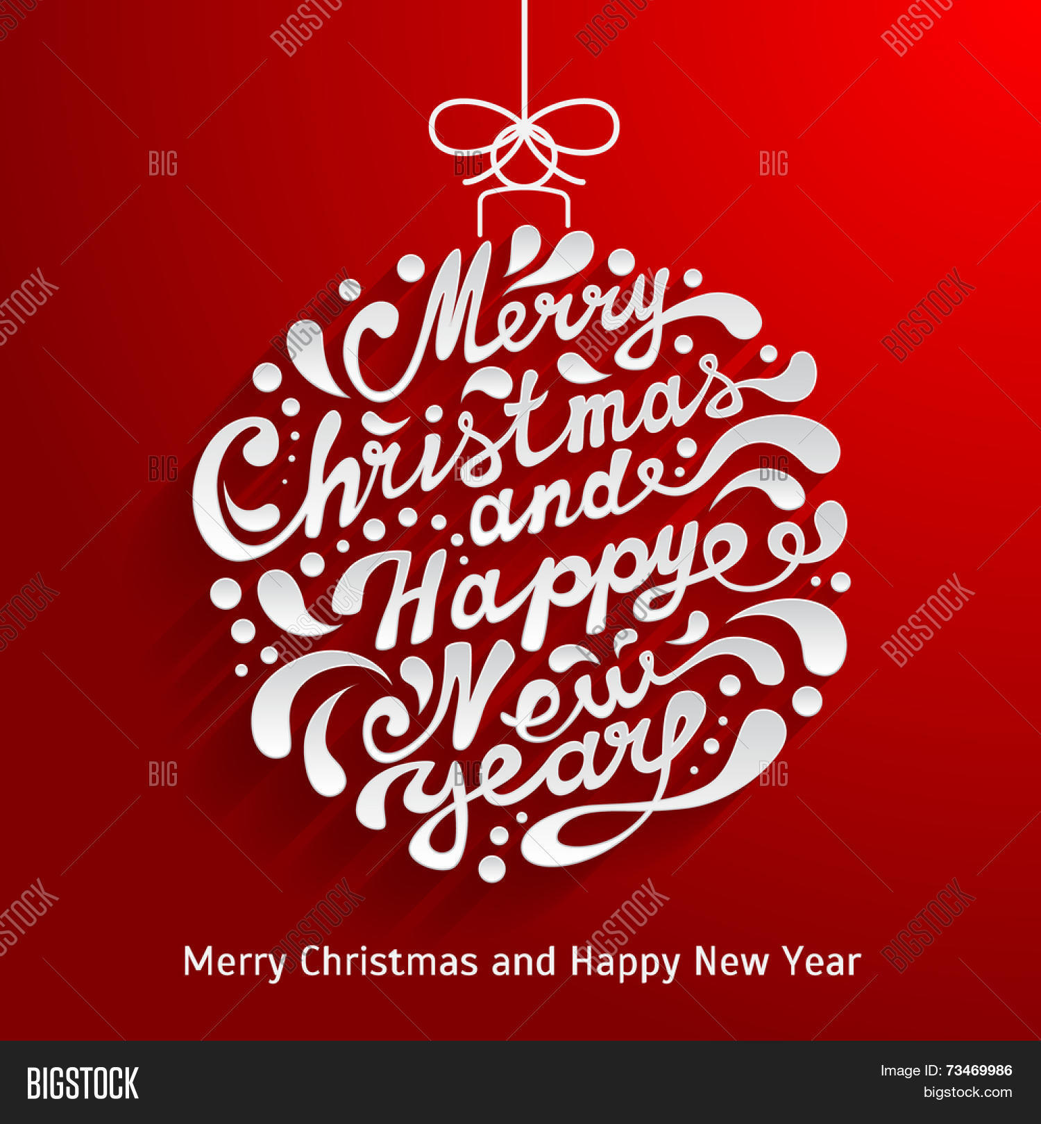 Xmas Greeting Card Vector & Photo (Free Trial) | Bigstock
