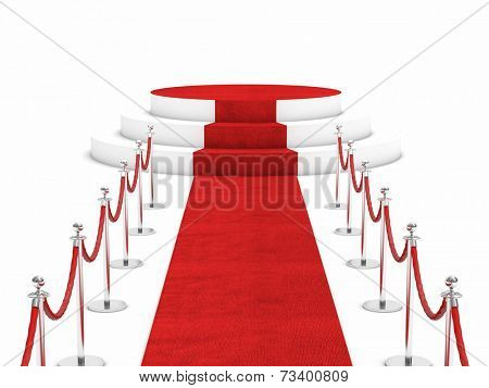 red carpet and rope barrier