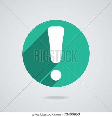 Attention Caution Sign Icon. Exclamation Mark. Hazard Warning Symbol. Four Squares. Colored Flat Des