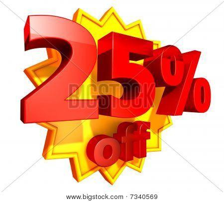 25 Percent price off