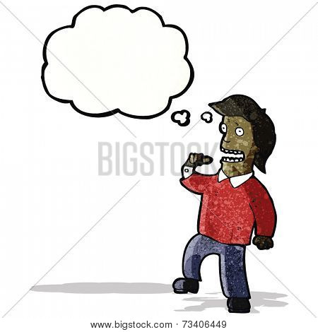 cartoon man with big ego