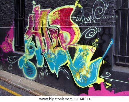 graffiti black wall