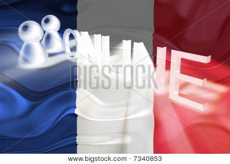 Flag Of France Wavy Online