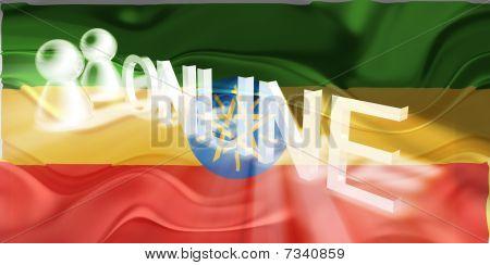 Flag Of Ethiopia Wavy Online