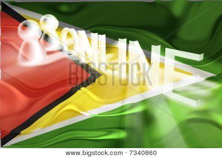 Flag Of Guyana Wavy Online