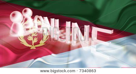 Flag Of Eritrea Wavy Online