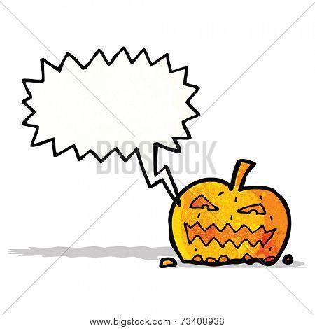 shrieking cartoon pumpkin