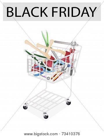 Various Craft Tools in Black Friday Shopping Cart