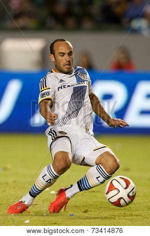 CARSON, CA - SEPT 28:  Landon Donovan in action during the Los Angeles Galaxy MLS game against the New York Red Bulls on Sept 28th, 2014 at the StubHub Center.