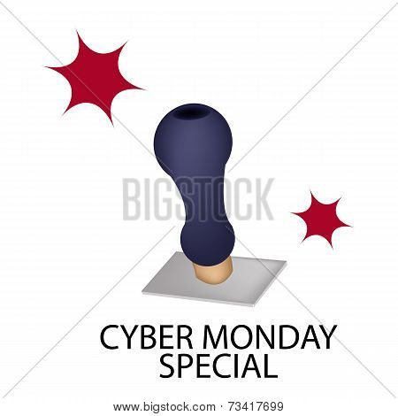 A Rubber Stamp With Word Cyber Monday Special
