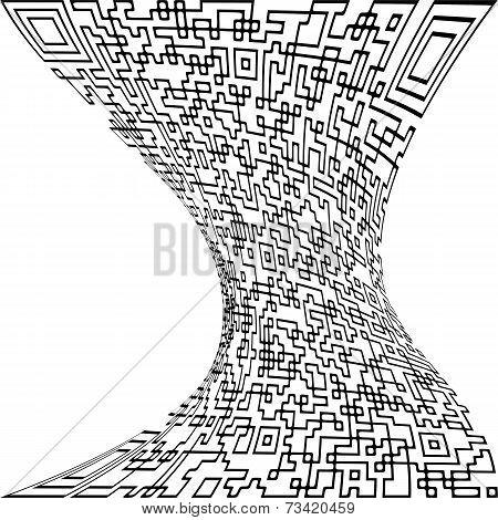 Illustration Deformed Qr Code