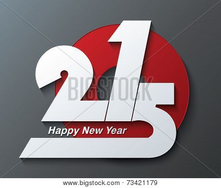 Modern Creative Greeting Card Design New Year 2015