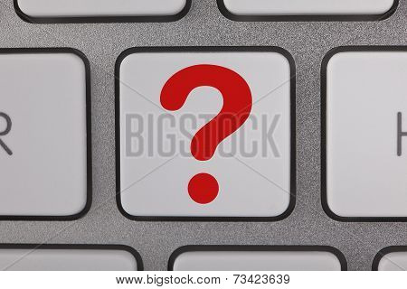Question Mark on Keyboard