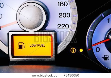 Contrast Image Sensor Fuel Warning Low Fuel Level