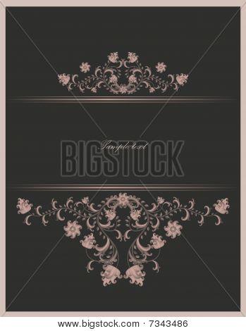 vintage template- vector