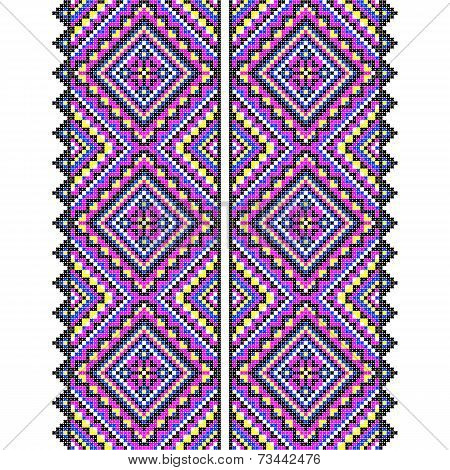 Embroidery. Ukrainian national ornament decoration. Vector illustration poster
