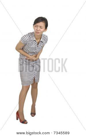 Young Woman Got Stomach Ache