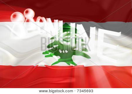 Flag Of Lebanon Wavy Online