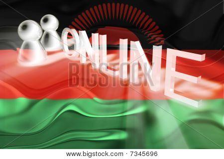 Flag Of Malawi Wavy Online