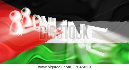 Flag Of Jordan Wavy Online
