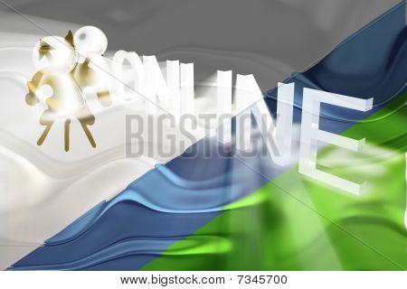 Flag Of Lesotho Wavy Online