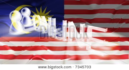 Flag Of Malaysia Wavy Online