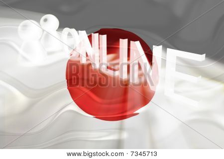 Flag Of Japan Wavy Online